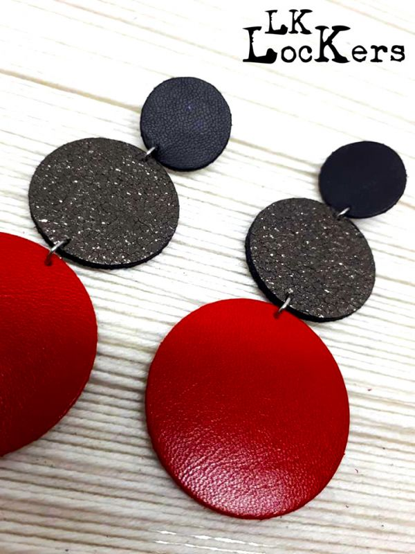 LK-Lockers gioielli in pelle orecchini in pelle
